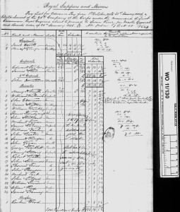 RSM Muster Roll 1 Oct 1851 to 31 Jan 1852 for Marion