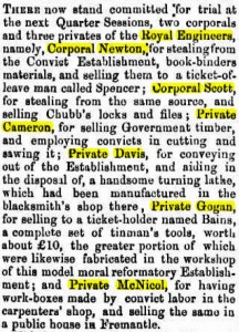 Davies William Perth Gazette [1 Jul1859]