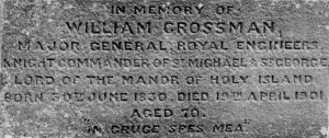 Crossman Memorial Inscription