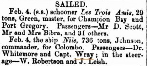 Wray on Nile [Perth Gazette 12 Feb 1858]