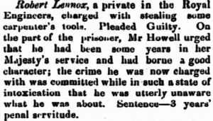 Lennox [Inquirer 10 Apr 1861]