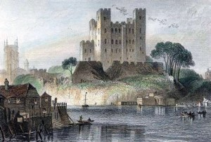 Rochester Castle [engraving 1836]