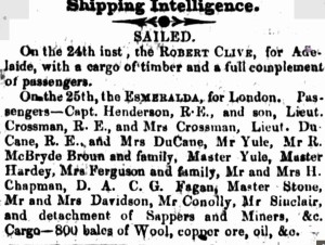 1856 Esmeralda [Perth Gazette 29 Feb 1856]