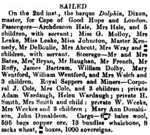 1857 Dolphin [Perth Gazette 6 Mar 1857]