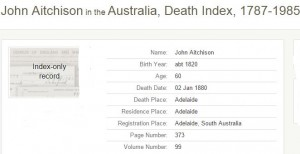 Aitchison John tentative death