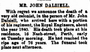 Dalziell John Death Notice [Western Mail 21 Jul 1900]