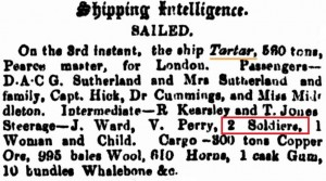 Tartar Sailing [Perth Gazette 4 Jan 1861]