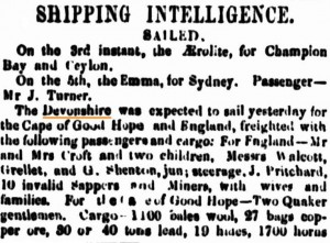 1855 Devonshire [Inquirer 7 Mar 1855]