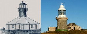 Breaksea Island Lighthouse 1858 & 1902